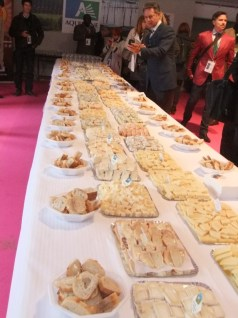 OriGIn members were invited to taste an array of French GI and AO cheeses. (Photo Credit: Catherine Saez, IP-Watch)