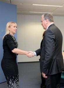 Benoît Battistelli meets Elżbieta Bieńkowska