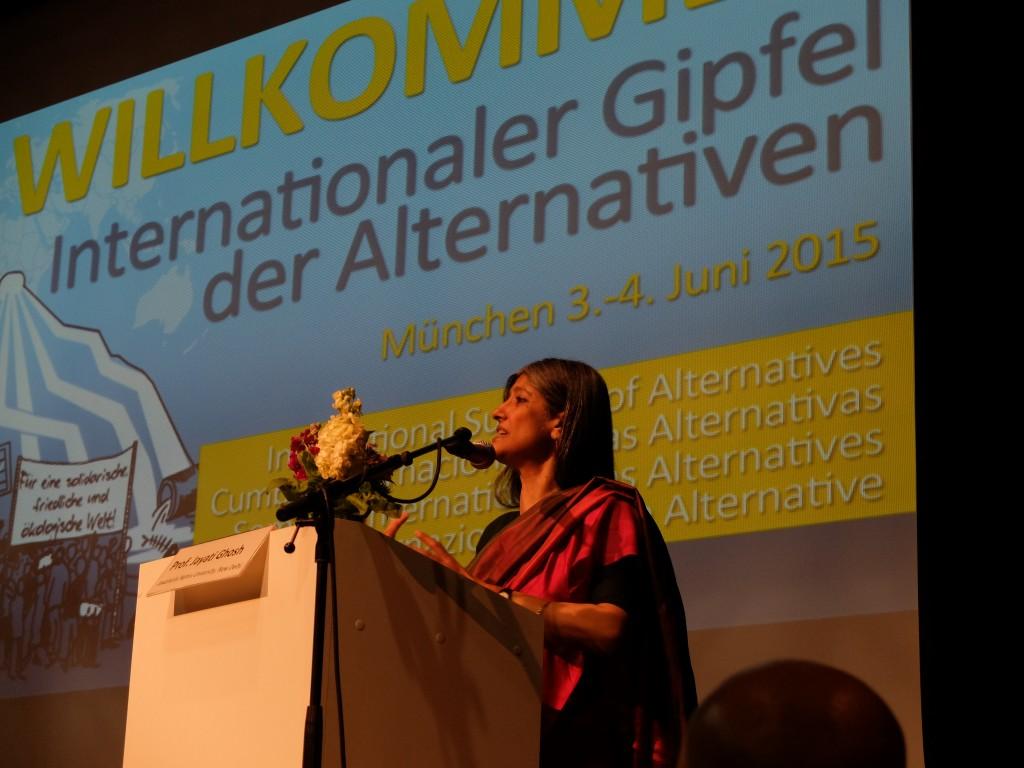 Prof. Jayati Gosh addresses Alternative Summit