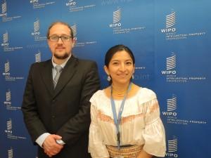 Núñez Rocha and Ñusta Maldonado of the Ecuador mission in Geneva