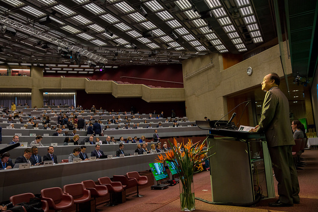 ITU Secretary General Houlin Zhao addresses the WSIS Forum