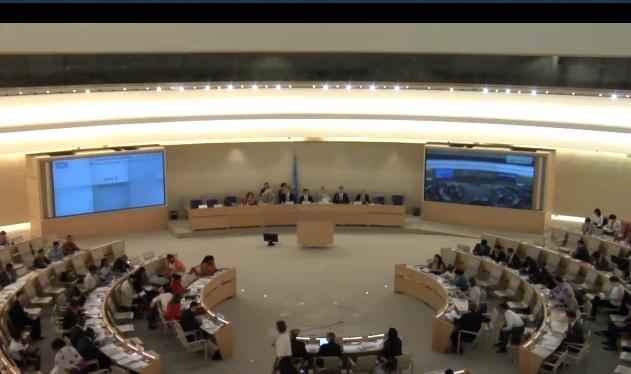 UN Human Rights Council meeting in Geneva