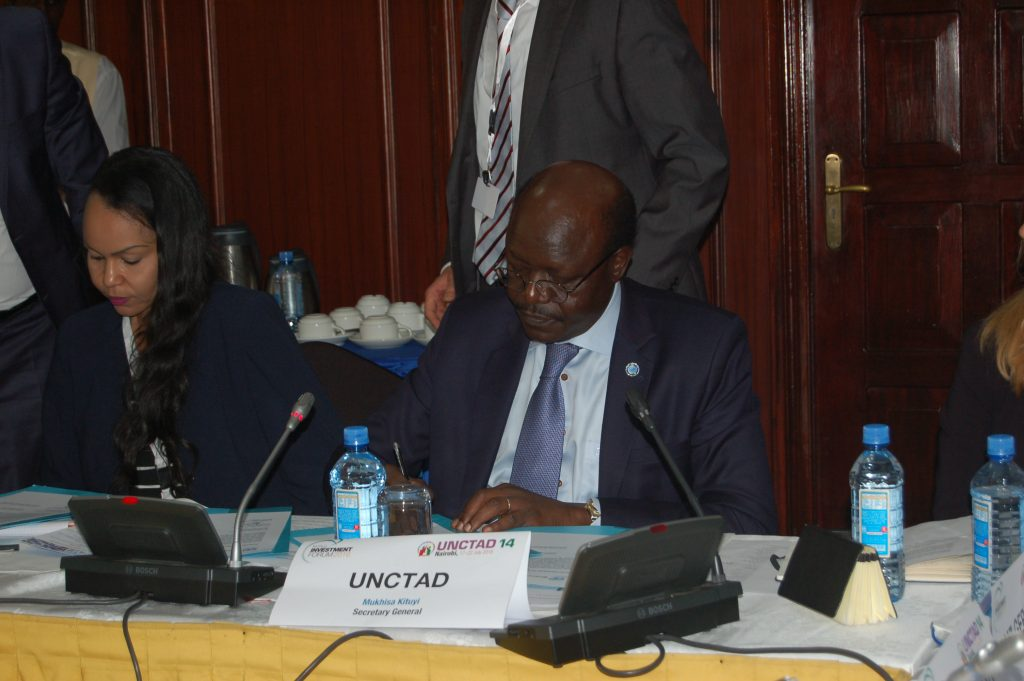From left Ms. Fatima Acyl, AU Commissioner for Trade and Industry, and Dr. Mukhisa Kituyi, UNCTAD SG. Photo credit: Fredrick Nzwili