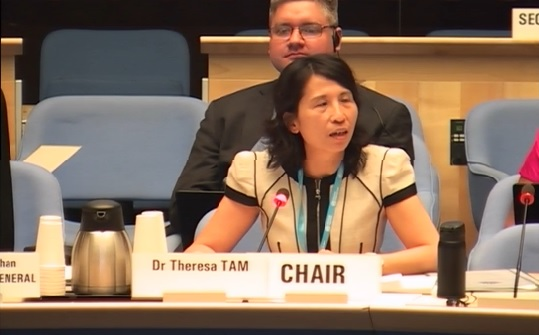 Theresa Tam, deputy chief public health officer of the Public Health Agency of Canada, chairing the PIP Review Group yesterday
