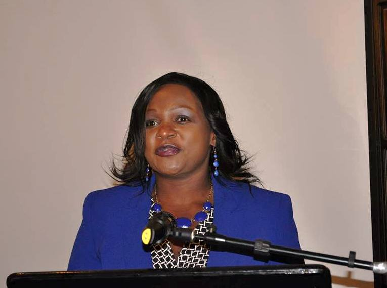 Guest of Honor Virginia Mabhiza, Permanent Secretary in the Ministry of Justice and Constitutional Affairs, Zimbabwe, opening the workshop