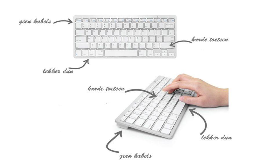 ipad toetsenborden afbeelding met uitleg