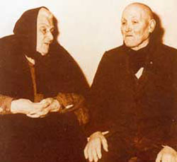 Alessandro Serenelli with Assunta Goretti, St. Maria's mother.
