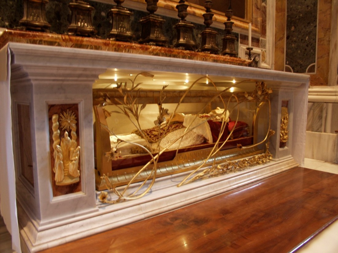 The tomb of Blessed John XXIII in St. Peter's Basilica