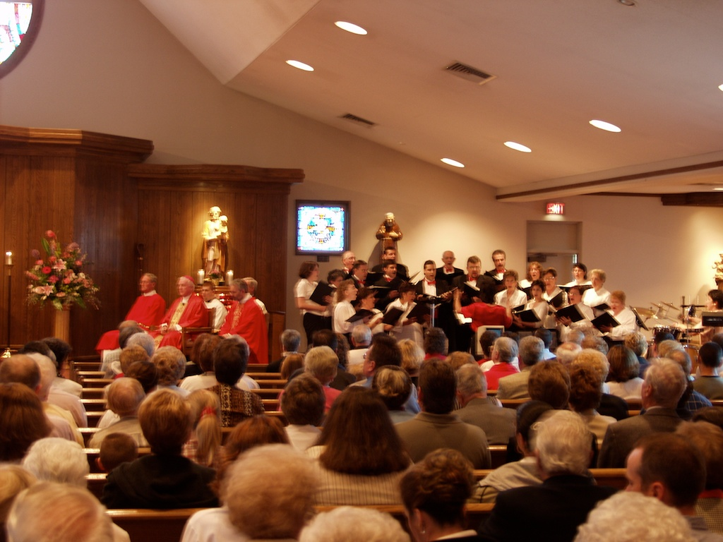 Placement of the choir in 2003