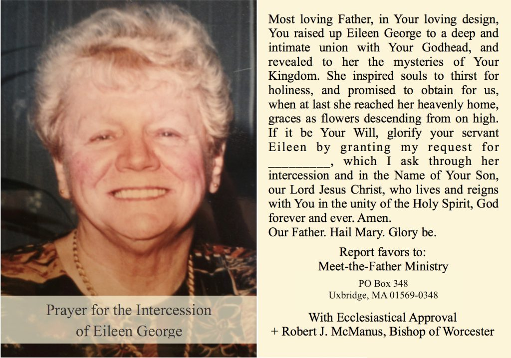 Prayer for the intercession of Eileen George