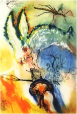 """Title: Down the Rabbit Hole Medium: Heliogravure with Woodblock Size: 11.5"""" x 17"""" Reference #: ML No. 322 Year: 1969"""