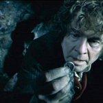 Bilbo dans la caverne