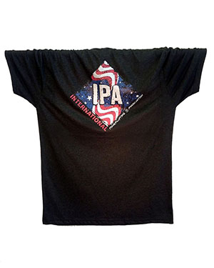 IPA USA TEES NEXT LEVEL TRI-BLEND SHIRTS MEN-BLACK - back