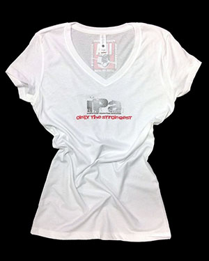 ONLY THE STRONGEST TEES NEXT LEVEL TRI-BLEND SHIRTS - white - front - women