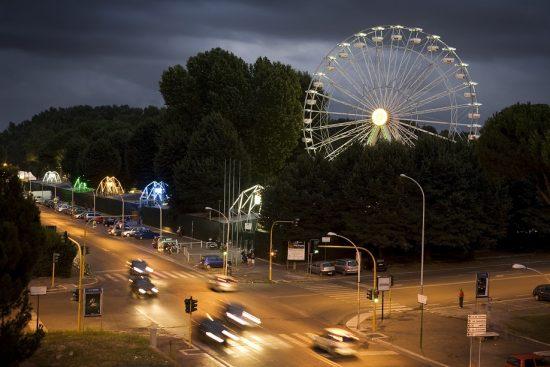 Ingresso del parco giochi Luneur, lo storico luna park e parco divertimenti di Roma