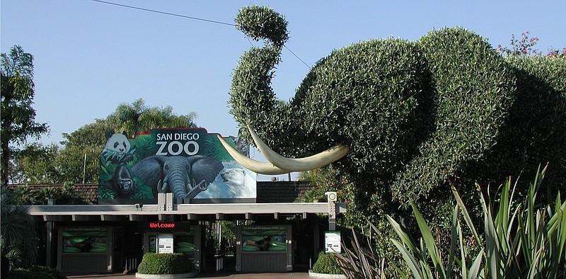 L'ingresso dello Zoo di San Diego in California
