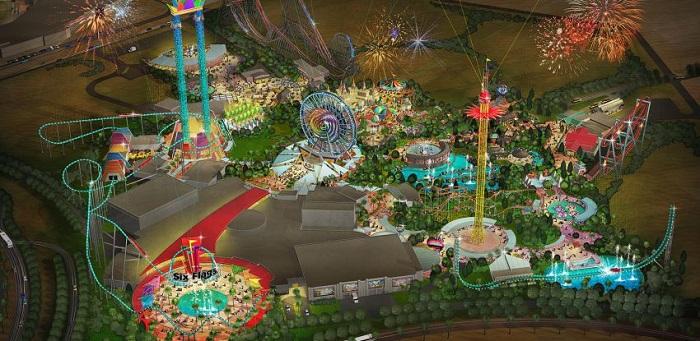Il parco divertimenti Six Flags Dubai negli Emirati Arabi