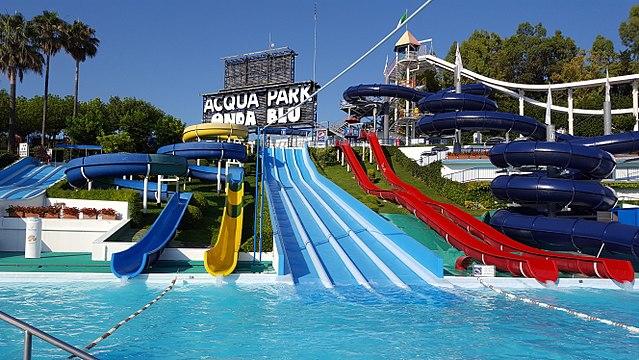 Il parco acquatico Acquapark Onda Blu a Tortoreto in Abruzzo
