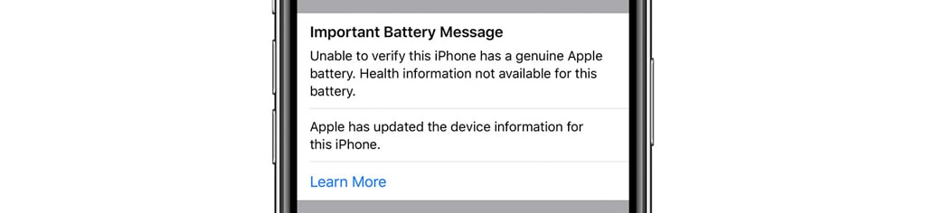 iPhone 11 Important Battery Message