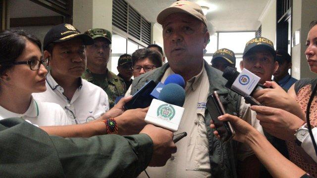 En declaraciones a la prensa, el Ministro de Defensa, Luis Carlos Villegas, dijo que la mayoría de homicidios de líderes sociales de deben a peleas de vecinos, faldas y por rentas ilícitas. Foto: @mindefensa