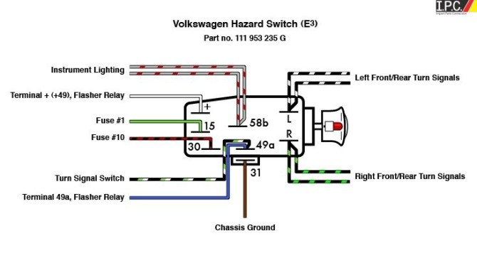 vw bug wiring diagram 4 prong flasher  schematic wiring
