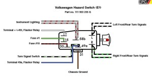 Emergency Flasher Switch VW IPC VW Parts, VW Bug Parts and VW Bus Parts , Volkswagen Interior