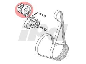 Service manual [Install Serpintine Belt 2008 Volvo V50]  Install Serpintine Belt 2008 Volvo V50