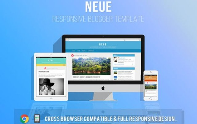 Neue Responsive Simple Blogger Template