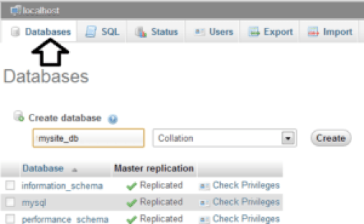 Create Database With Required Information