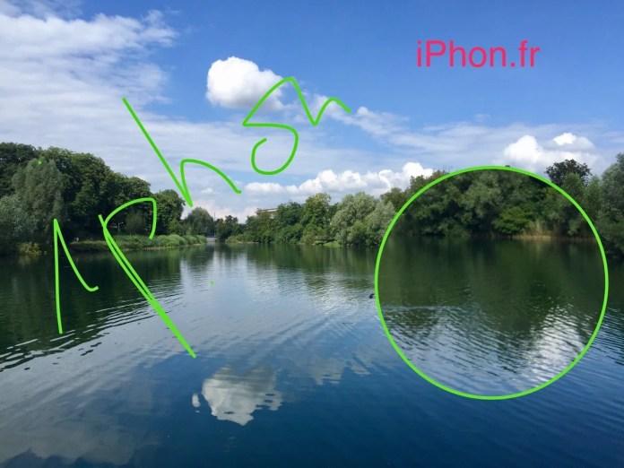 IOS tip editing photo markup