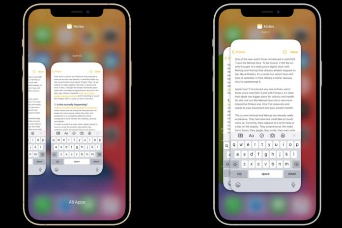 iOS 15 display concept