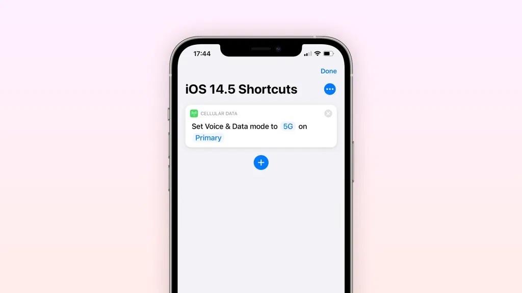 5G iOS shortcut