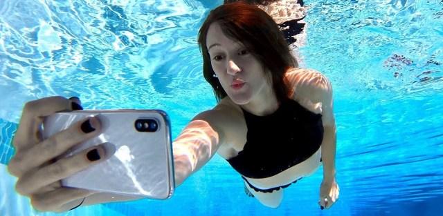 iPhone FaceID underwater