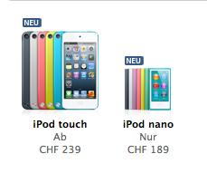Apple Online Store ist zurück / neue iPods können bestellt werden //Update
