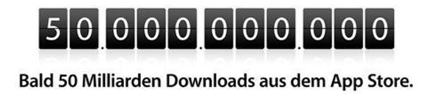 50 Milliarden AppStore-Downloads, Apple verlost 10'000 US-Dollar