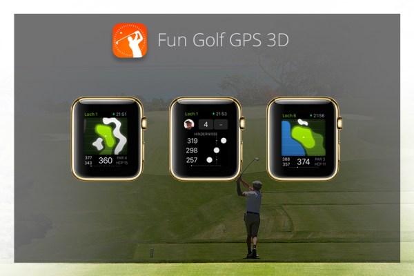 Apps für die goldene Apple Watch - Fun Golf GPS 3D