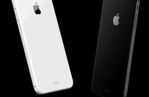 iPhone Konzept: Glas Rückseite und Stahlrahmen