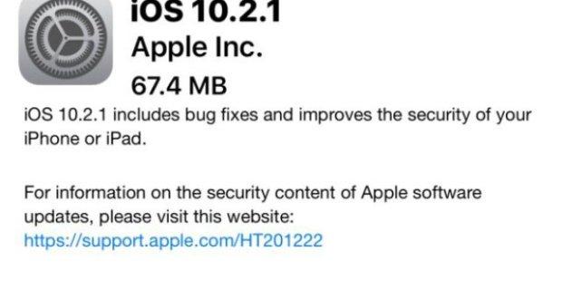Probleme mit iOS 10.2.1