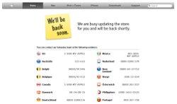 Meldung im deutschen Apple-Online-Store