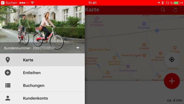 Call a Bike App für das iPhone