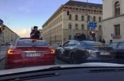 Tesla Supercharger Rallye München Innenstadt