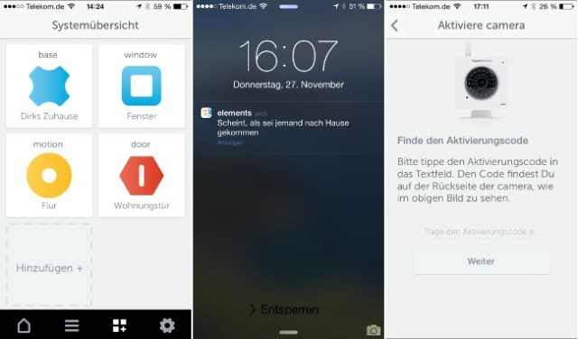 Alarmanlage für iPhone Gigaset Elements