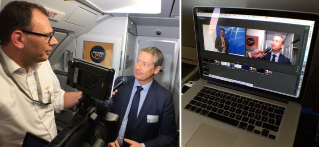 Streaming-Video während Lufthansa-Fluges