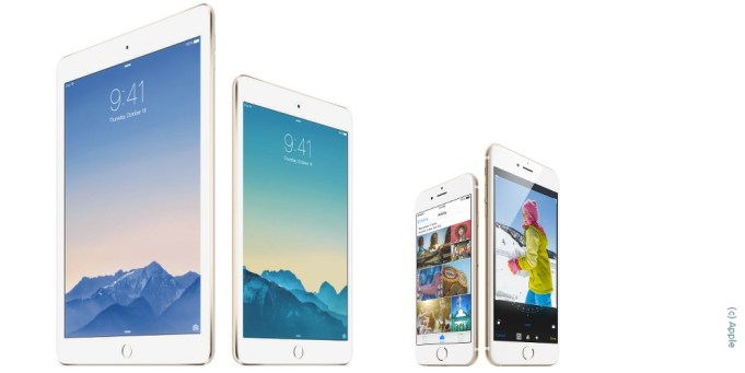 iPad Air Mini iPhone 6 Plus Apple