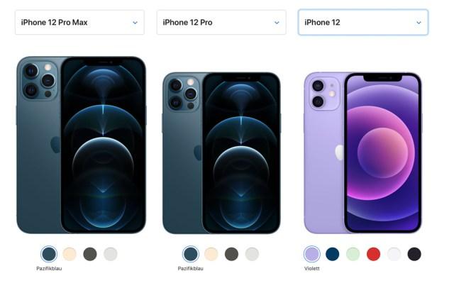 iPhone 12 Modelle