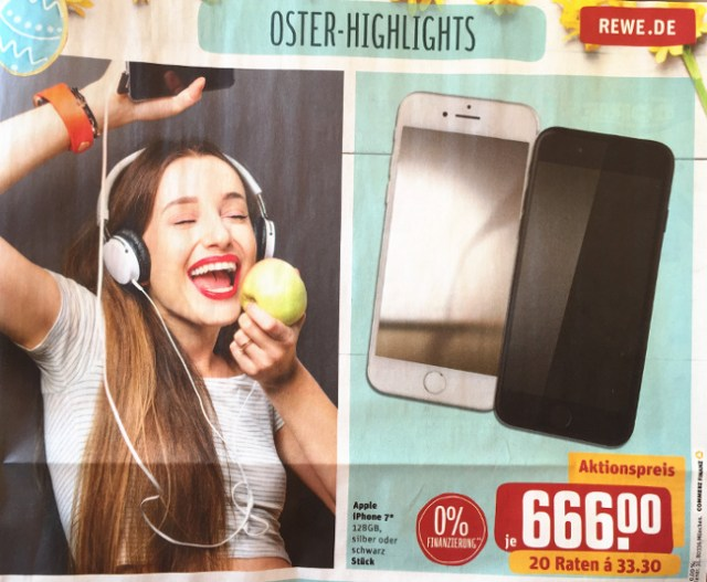 Rewe iPhone 7 zu Ostern