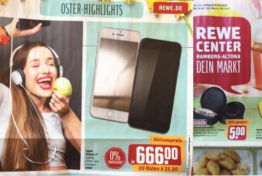 Rewe iPhone 7 Angebot