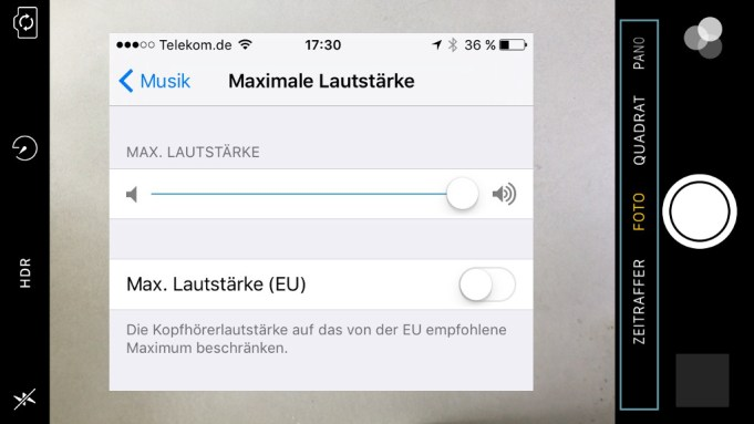 iPhone Kamera Video fehlt Audio-Wiedergabe leise