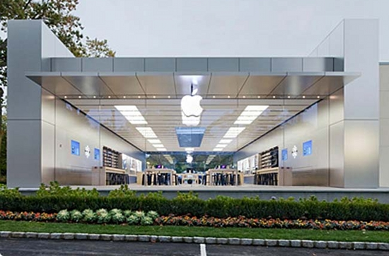 Apple Store mit Glasfront in Manhasset (c) Courtesy of Apple