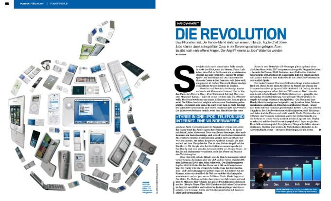 iPhone Präsentation 2007 Player Magazine